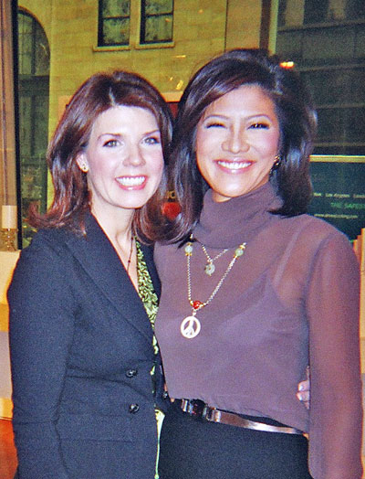Jillian Quinn and Julie Chen of the Early Show
